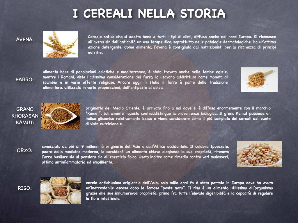 I cereali nella storia